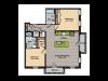 2 Bedroom Floor Plan   Apartments In Washington DC   360H Street 11