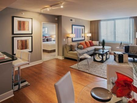 Spacious Living Room | Apartments in Washington, DC | Meridian at Mt. Vernon Triangle