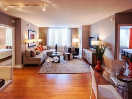 Elegant Living Room | Apartments for rent in Washington, DC | Meridian at Mt. Vernon Triangle