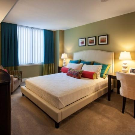 Elegant Master Bedroom | Apartments Washington, DC | Meridian at Mt. Vernon Triangle