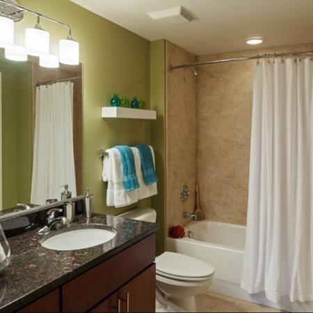 Spacious Master Bathroom | Apartments Homes for rent in Washington, DC | Meridian at Mt. Vernon Triangle