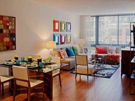 Spacious Living Area | Apartments Homes for rent in Washington, DC | Meridian at Mt. Vernon Triangle