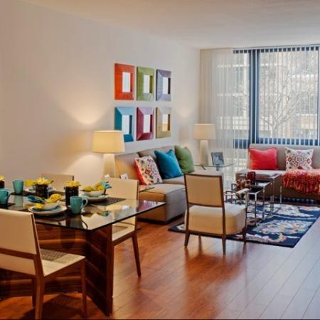 Spacious Living Area   Apartments Homes for rent in Washington, DC   Meridian at Mt. Vernon Triangle