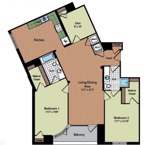 Floor Plan 31 | Meridian at Mt Vernon Triangle
