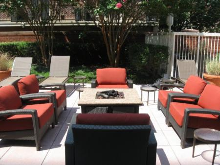 Resident Fire Pit | Luxury Apartments Old Town Alexandria VA | Meridian at Carlyle