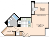 Studio Floor Plan 1 | Alexandria Virginia Apartments | Meridian at Carlyle