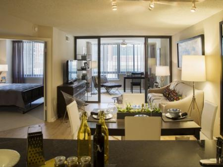 Spacious Living Room | Apartments in Arlington, VA | Meridian at Courthouse Commons