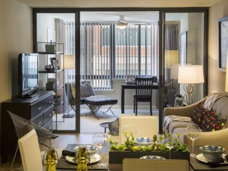 Elegant Living Room | Apartments for rent in Arlington, VA | Meridian at Courthouse Commons
