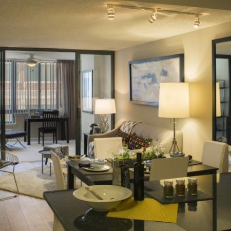 Spacious Dining Room | Apartment in Arlington, VA | Meridian at Courthouse Commons