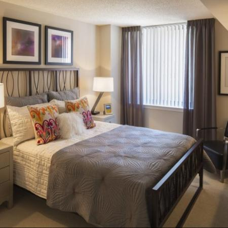 Spacious Master Bedroom | Apartments Homes for rent in Arlington, VA | Meridian at Courthouse Commons