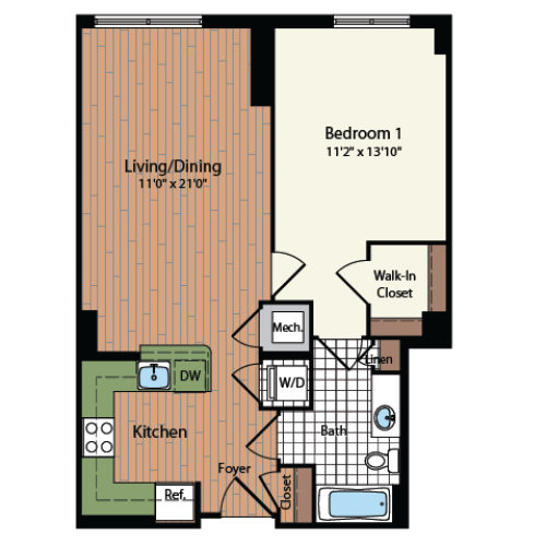 Floor Plan 9 | Meridian at Mt Vernon Triangle