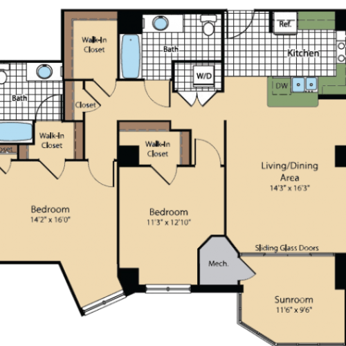 Floor Plan | Meridian at Gallery Place 6