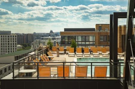 Sparkling Pool | Apartments for rent in Washington, DC | Meridian at Mt. Vernon Triangle