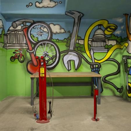 Bicycle Repair Station | Apartments for rent in Washington, DC | Meridian at Mt. Vernon Triangle
