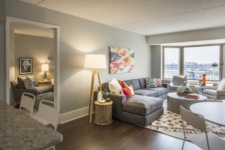 Elegant Living Room | Apartments In North Bergen NJ | Half Moon Harbour Apartments