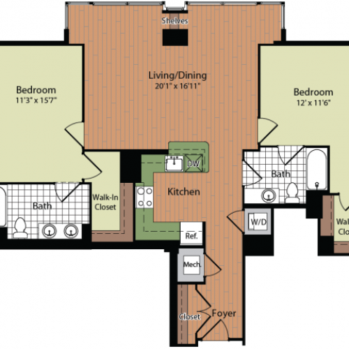 Floor Plan | Parc Meridian at Eisenhower Station 7