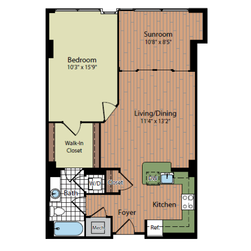 Floor Plan 2 | Parc Meridian at Eisenhower Station 2