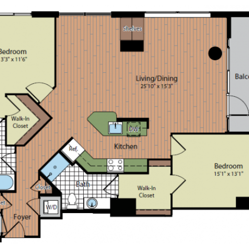 Floor Plan 2 | Parc Meridian at Eisenhower Station 4