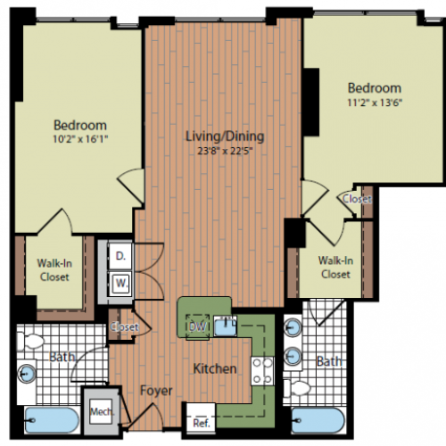 Floor Plan 5 | Parc Meridian at Eisenhower Station 4