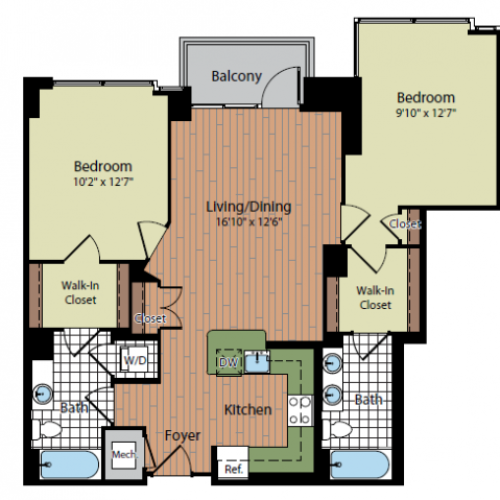 Floor Plan 6 | Parc Meridian at Eisenhower Station 4