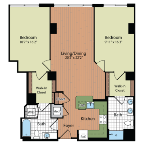 Floor Plan | Parc Meridian at Eisenhower Station 5