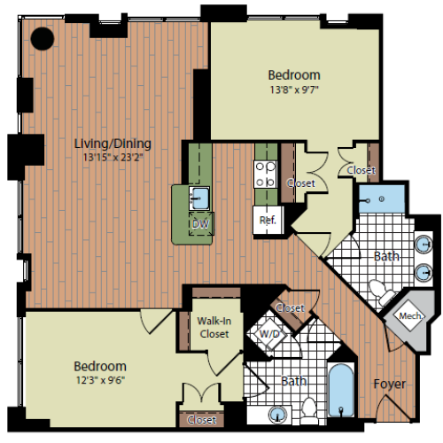 Floor Plan 2 | Parc Meridian at Eisenhower Station 5