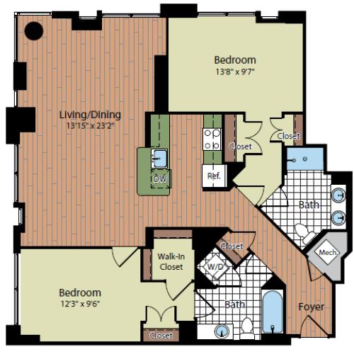 Floor Plan 2 | Parc Meridian at Eisenhower Station 5
