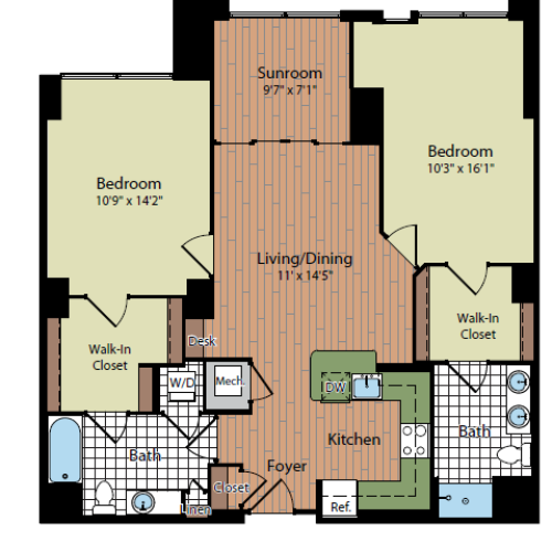 Floor Plan 4 | Parc Meridian at Eisenhower Station 5