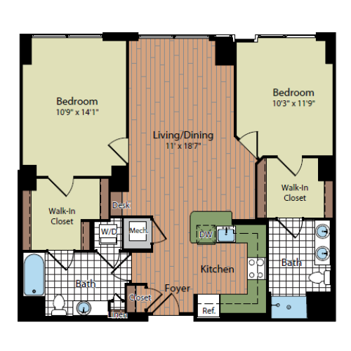 Floor Plan 5 | Parc Meridian at Eisenhower Station 5
