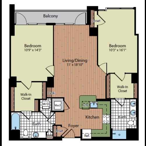 Floor Plan 6 | Parc Meridian at Eisenhower Station 5