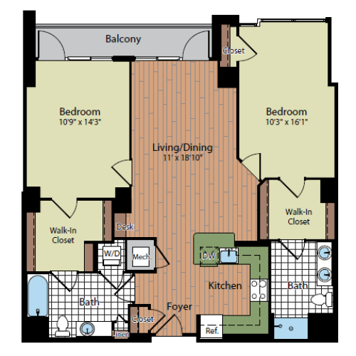 Floor Plan 6 | Parc Meridian at Eisenhower Station 5