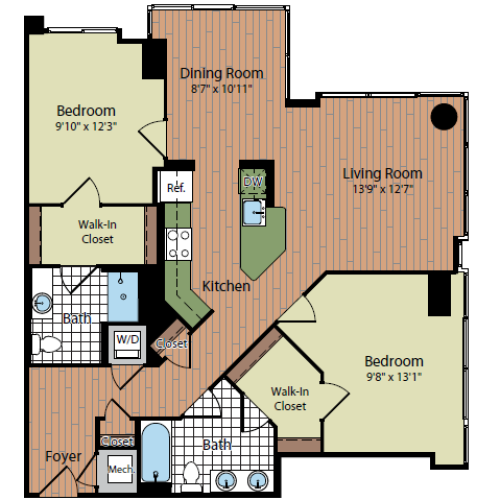 Floor Plan 3 | Parc Meridian at Eisenhower Station 6