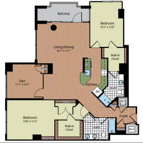 Floor Plan 4 | Parc Meridian at Eisenhower Station 6