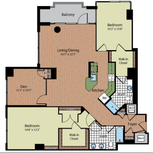 Floor Plan 4 | Parc Meridian at Eisenhower Station 6
