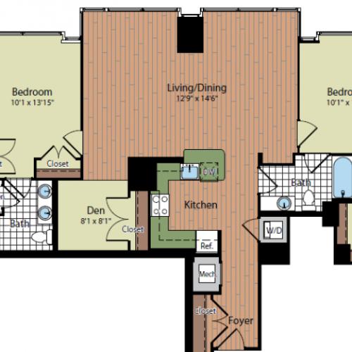 Floor Plan 2 | Parc Meridian at Eisenhower Station 7