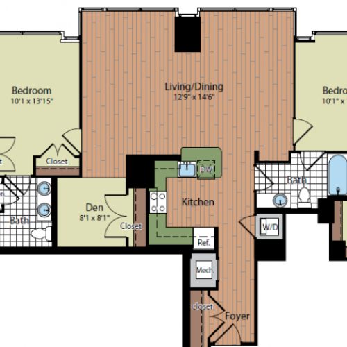 Floor Plan 2 | Parc Meridian at Eisenhower Station 7
