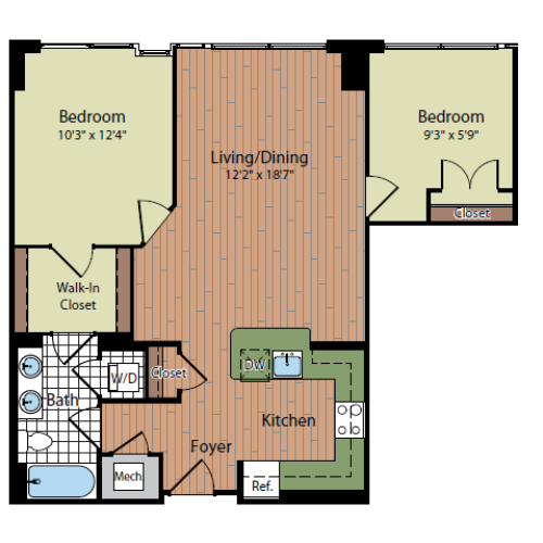 Floor Plan 5 | Parc Meridian at Eisenhower Station 7