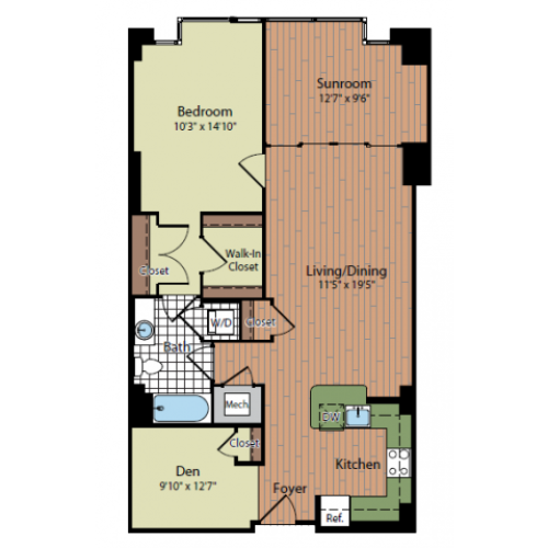 Floor Plan 2 | Parc Meridian at Eisenhower Station 8