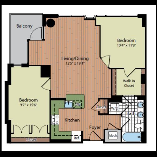 Floor Plan 3 | Parc Meridian at Eisenhower Station 8