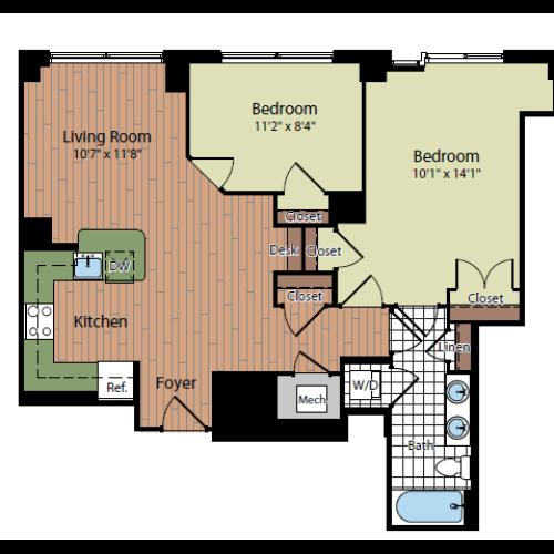 Floor Plan 6 | Parc Meridian at Eisenhower Station 8