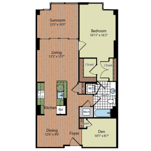 Floor Plan | Parc Meridian at Eisenhower Station 9