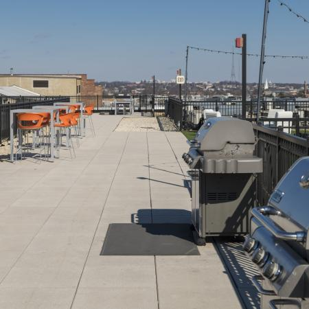 Community BBQ Grills | Park Triangle Apartments Lofts and Flats