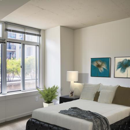 Elegant Bedroom | Park Triangle Apartments Lofts and Flats