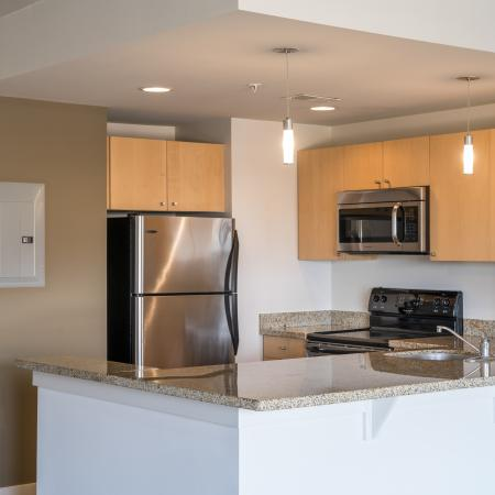 State-of-the-Art Kitchen | Park Triangle Apartments Lofts and Flats