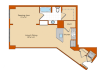 Studio Floor Plan | Park Triangle Apartments Lofts and Flats
