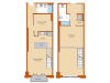 1 Bedroom Floor Plan 8 | Washington DC Apartments | Park Triangle Apartments Lofts and Flats