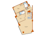 2 Bdrm Floor Plan 1   Apartments For Rent Washington DC   Park Triangle Apartments Lofts and Flats