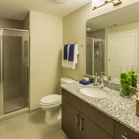 Elegant Master Bathroom | Apartments Arlington, VA | Parc Meridian at Eisenhower Station