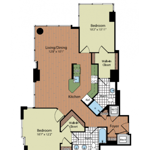 Floor Plan 3 | Parc Meridian at Eisenhower Station 4
