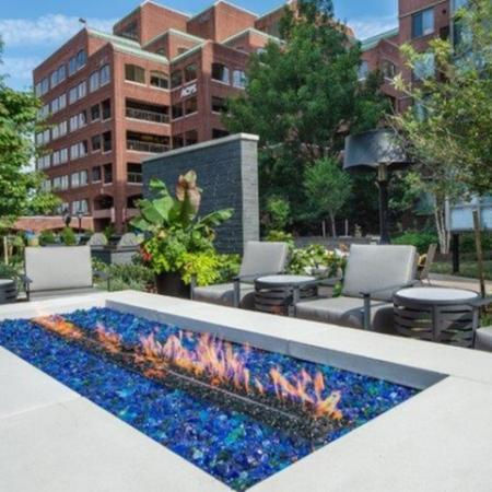 Resident Fire Pit | Luxury Apartments Old Town Alexandria VA | Meridian at Braddock Station